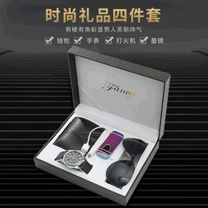 wallet Father's creative day watch box men's gift Sunglasses lighter fashion case
