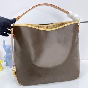 امرأة ممتعة حقيبة الكتف كبيرة 41CM الكلاسيكية الكبيرة المغلفة قماش زهرة طباعة سيدة عارضة حمل قدرة كبيرة على حمل محافظ الأساسيات والملفات
