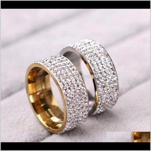 Cluster Drop Доставка 2021 Золотой Парень Пара Кольцо для Женщин Мужчины Обручальные Кольца Ювелирные Изделия Рез