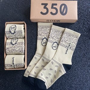 Erkek Çorap Paten Mürettebatı Erkekler Spor Kaktüs Jack Bandanas Çorap Streetwear Hip Hop 3 Çift / Kutu