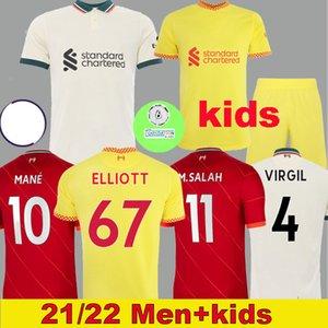 Thailand 21 22 home soccer jerseys M.SALAH ALEXANDER ARNOLD MANE FIRMINO VIRGIL DIOGO J Thiago A.BECKER football shirt KEITA KONATE men kids kit 999