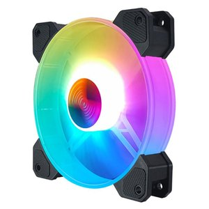 Fans & Coolings ARRIVE 12cm 12V 4Pin PC Case Cooler Fan For Computer Chassis CPU 5V 3Pin ARGB Lighting PWM Radiator Cooling Heatsink