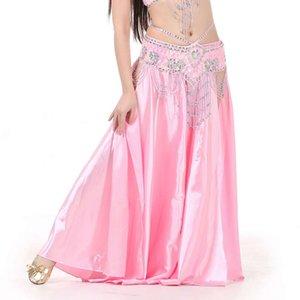 Göbek Dans Etekler Kadın Kat Uzunlukta Çift Sıklar 17 Renk Oryantal Dans Kostüm Etek Oryantal Kostüm Etek (Kemersiz)