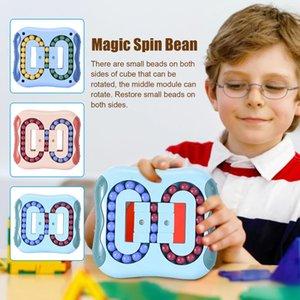 Rotating Magic Bean Fingertip Rubik's Educational Round Cube Children's Finger Gyro Disk Stress Relief Sensory Fidget