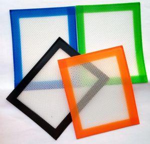 102x127mm Food grade Baking Pads small non-stick slick oil silicone mat dab wax mats fibreglass construction SN5296