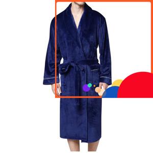 # B02 Erkekler Kış Genişletilmiş Pluche Şal Ev Giyim Uzun Mouwen Robe Ceket Badjas Peignoir Homme Gewaad