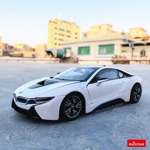 Rastar 124 BMW i8 concept car supercar Static Simulation Diecast Alloy Model Car Toy collection Christmas gift models car