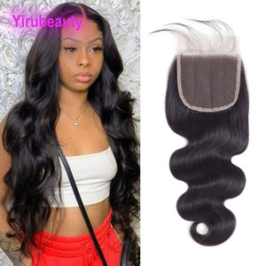 Peruvian Human Hair 5X5 Lace Closure Baby Hairs Five Pcs Body Wave Silky Straight Wholesale Yirubeauty