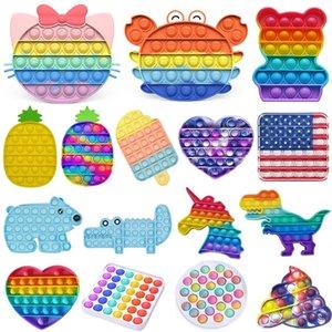 DHL Rainbow Fidget Toy Sensory Bubble DecomPression Autism NECESIONES ESPECIALES NECESIDADES ANSIEDAD ANTISIO ANTIENTO PARA ADULTOS