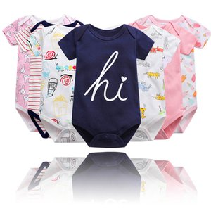 2021 Newborn Baby Romper Infant Cotton Short Sleeve Boy Baby Letter Clothes Funny Girl Print Suit Born Crawling Baby 0-24m New