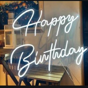 Led Happy Birthday Party Decoration Light Neon Sign Custom Decor Signs For Other Event & Supplies
