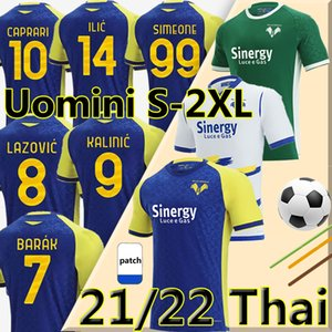 21 22 Hellas Verona soccer jerseys home 2021 2022 SIMEONE ILIC CAPRARI KALINIC LAZOVIC BARAK FARAONI men football shirts maglie da calcio