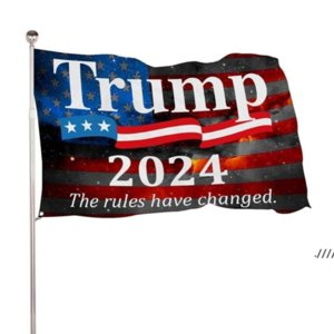 DHL SHIP Trump 2024 Take American Back 90*150cm Flags Presidential Election Banner Flags 3*5 Feet Digit Print 100D Polyester EWA4551