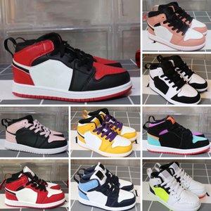 Оптом дети детская обувь магазин модного магазина топ качество девушка мальчики детей 1 баскетбольные кроссовки размером 26-35