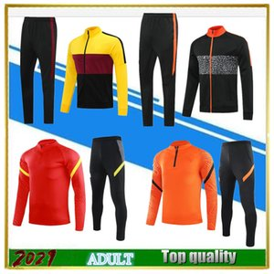2021 men Football jacket set soccer jersey tracksuit kits Survetement 20 21 DZEKO TOTTI ZANIOLO KLUIVERT abbigliamento sportivo training suit
