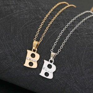 هدية اسم الأبجدية إلكتروني الأولي b قلادة usa 26 الإنجليزية كلمة الأسرة علامة قلادة مجوهرات قلادة