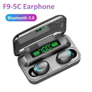 1PCS F9-5C Wireless Earphones Rechargeable Headphone Bluetooth 5.0 Touch Control Active Noise Reduction High-Definition Call With Mic