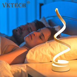 Table Lamps Modern Minimalist LED Lamp For Bedroom Bedside Acrylic Desk Reading Light Night Home Lighting EU Plug