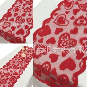 33x183cm Red Heart Pattern Table Runner Table Cloth Cover For Valentines Day Wedding Party Home Decoration Home Textiles 344 J2