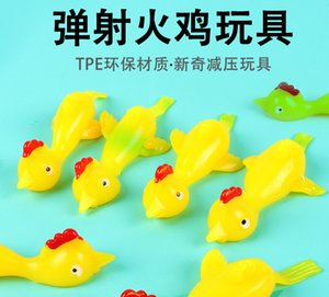 Shooting Turkey and demagogues funny toy shooting chicken TPR soft material launch slingshot chicken
