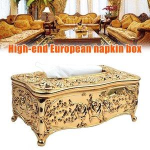 Tissue Boxes & Napkins Est European Ornate Paper Box Napkin Cover Holders For Home El Decoration
