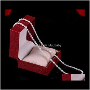Wholesale Ms 89Mm Rice Shape White Natural Pearl Long Necklace S013 Ltaqd Beaded Necklaces Tzfej