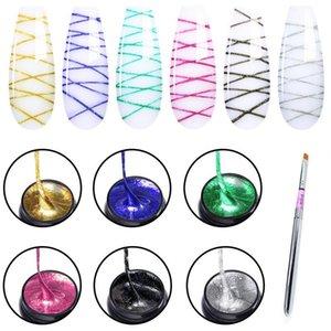 Elite99 5ml Dibujo Pintura Gel Polish Barnish Soak Off Spider Silk Nail Set for Manicure Art UV Wire Line Kits