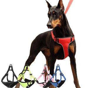 조정 가능한 큰 야외 애완 동물 반사 부드러운 소재에 대한 조정 가능하지 않음 소형 매체 대형 개 칼라 가죽 끈