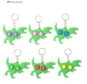 푸시 버블 키 체인 키즈 소설 Fidget Keychains 딤플 장난감 장난감 키 홀더 링 봉투 펜던트 감압 장난감