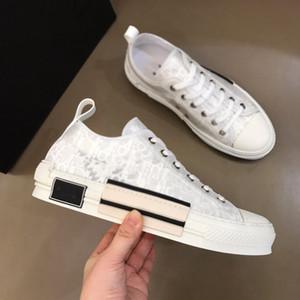Dior b23 shoes Mode Classic High Top Couple Couple Casual Chaussures Luxe All-match Canvas Chaussure Hommes et Femmes Sports Courir Blanc Black Star de la même taille 35-45