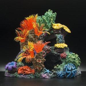 Aquarium Dekoration Fischtank Landschaftsgestaltung Künstliche Korallenref Ornamente Fisch Shelter Aquascape Landschaft Wohnkultur Zubehör Dekorationen