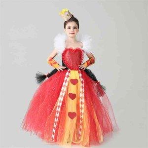 Halloween gauze dress children's role play Red Queen Tutu Princess Girl Dress