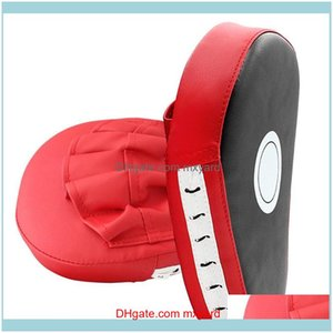 Fitness Supplies Sports & Outdoorscurved Boxing Muay Fist Target Sanda Training Thickened Seismic Baffle Pu Five-Finger Taekwondo Foot Sand