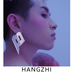 HANGZHI 2021 New Hip Hop Trendy Simple Design Exaggerate Letter B Stud Earrings for Women Girls Hot Fashion Party Jewelry Gifts
