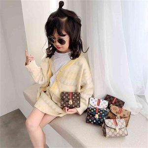 6 colori Borsa per bambini Fashion Designer Flower Mini Quadrato Bella ragazza Pop Girl Princess Messenger Borse Accessori Borsa Portafoglio Borsa G31908