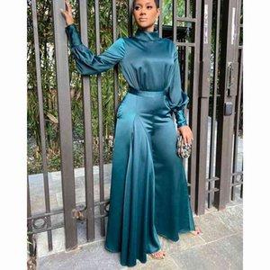 dresses African For Women Silk Design Bazin Dashiki Lady Elegant Stylish Jumpsuit Female Overalls Africa Clothing