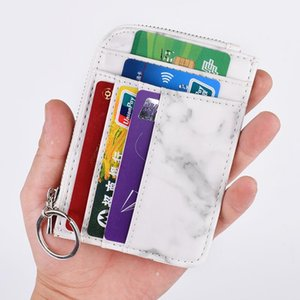 Card Holders Pu Leather Holder Wallet Women Keychain Case Girl Fashion Thin Purse Housekeeper Cover