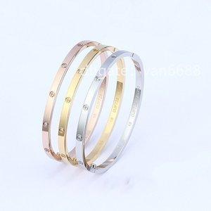 Bracelet With red box Ladies love rings Pendant Necklaces Screw carti Bracelet Van Party Wedding Couple Gift Bracelet Fashion Luxury Cleef Designer
