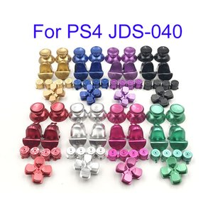 JDS-040 4.0 Custom Metal Buttons Thumbsticks Analoge Bullet D-pad For Sony PS4 pro Controller full button set
