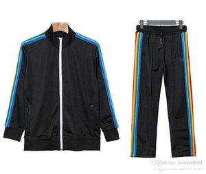 2021 New Arrival Palm Printed Angels Designer Tracksuits Men Women Spring Autumn Tracksuit Designer Jackets White Black Jogger Sporting Suit