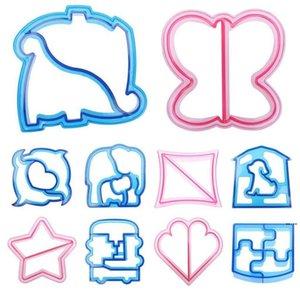 Puzzle Forms Wordwich Flush Butter Butter Dolphin Медведь Автомобиль Форма для собаки Форма для выпечки Торт Хлеб Тост Пресс-формы Сэндвич Резак Кухонный инструмент HWA4476