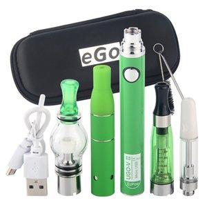 Vaporisateur Herbe Sece Vape 4 en 1 Kit de démarreur UGO avec stylo de cire CE4 Globe Globe CE3 Vapes de réservoir ECIG 900MAH EVOD Batterie