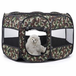 Kennels & Pens Portable Puppy Cage Fence Foldable Pet Tent Playpen For Small Big Cats Dogs Camouflage Breathable Crate House Pets Accessoris