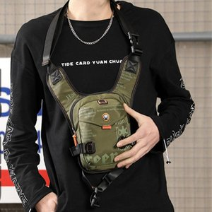 Men Shoulder Bag Motorcycle Adjustable Strap Multifunctional Portable Casual Sports Nylon Chest Pack Outdoor Waterproof Waist Bags