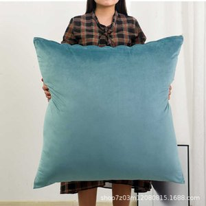 Velvet Large Pillow sofa washable large living room square pillow back cushion cover without core