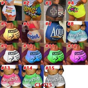 Pantalones cortos pantalones pantalones sexy ropa apretar personalizar patrón impreso pantalones de yoga damas bragas de pelotes bragas de moda