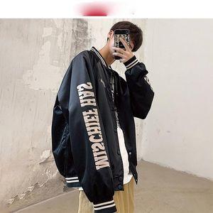 Streetwear Bomber Jacke Männer 2021 Mann Japan Stil Baseball Jacken und Mäntel Hip Hop College Vintage Windjacke Herren