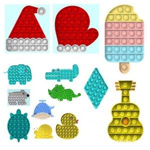 New Fidget Tie-Dye Sensosy Push Bubble Fidget Sensory Toy Autism Специальное беспокойство стресс для студентов офисные работники