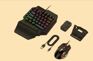 4 in 1 Bluetooth Gaming Keyboard Mouse Converter Combo for Smartphone PC PUBG Mobile Game Accessories