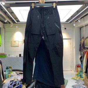 Black Pants Men Women 1 High Quality Back Pockets Elastic Waist Beach Trousers